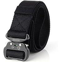"Tactical belt-outdoor tactical belt men's Heavy Duty Adjustable Military Style Nylon Belts with Aluminum Buckle 1.5"""