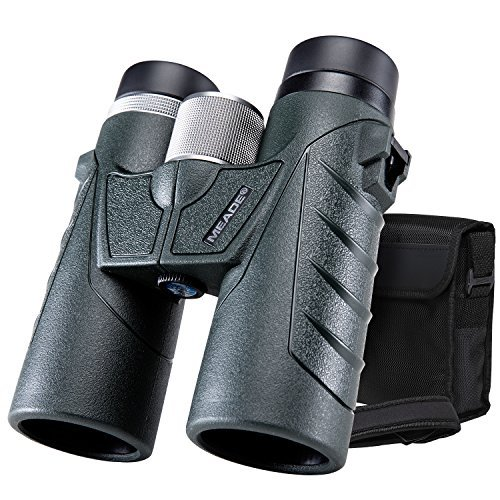 Meade 10x 42コンパクト双眼鏡with Clear Ultra Wideフィールドビジョン、Suitable for Adults狩猟、Bird Watching、Stargazing、旅行、コンサート( Army Green )