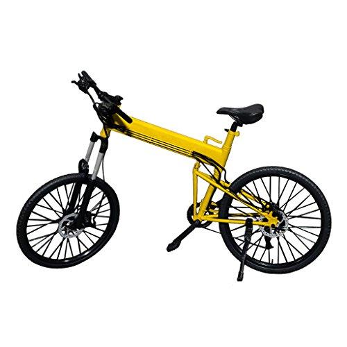 【ノーブランド品】1:6スケール 折り畳み式 自転車 黄色...