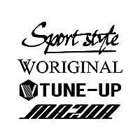 Sport style mix マツダ カッティング ステッカー ブラック 黒