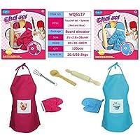 RaiFu ままごとおもちゃ ホーム キッチン おもちゃ 子供用 料理ツール エプロン ベーキング 装飾 キット カラーランダム