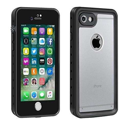 Merit iPhone7 防水ケース iPhone8 防水ケース アイフォン7 防水ケース アイフォン8 防水ケース 防水カバー 防塵 耐衝撃 透明黒