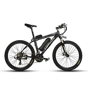 VTSP T8 ブラック17×26インチ マウンテンバイク アルミフレーム電動自転車シマノ21段変速
