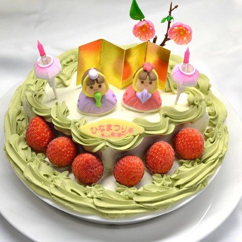 ひな祭り限定・ひなまつりアイスケーキ 和風抹茶ver6号