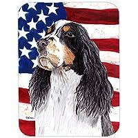 大 - 。キャロラインはまな板スプリンガースパニエルガラスと米国アメリカの国旗に×12 SC9016LCB 15トレジャー