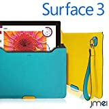 Surface 3 ケース JMEIオリジナルプロテクトレザーポーチケース VESTA Tablet ブルー microsoft サーフェス 3ストラップ付き タブレット PCバッグ パソコンバッグ PCケース クラッチバッグ タブレットPC ドキュメントケース ブリーフケース 書類ケース A4