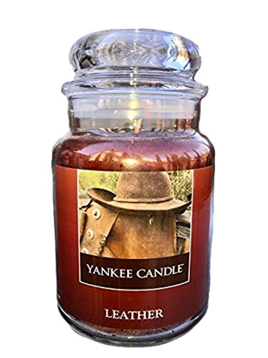 ホット香ばしい不明瞭Yankee CandleレザーLarge Jar