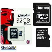 Huawei社Y635用オリジナルKingston 32GBマイクロSDメモリーカード/ TransFlash /マイクロSDHCカード32GB -