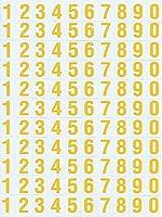 (シャシャン)XIAXIN 防水 PVC製 アルファベット ステッカー セット 耐候 耐水 数字 キャラクター ミニサイズ 表札 スーツケース ネームプレート ロッカー 屋内外 兼用 TSS-107 (1点, イエロー)