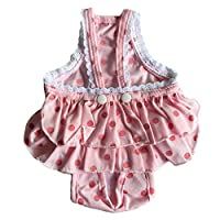 再使用可能 ペット 犬 物理的 パンツ 調節可能 ストラップ付き 衛生的 ズボン - ピンク, L