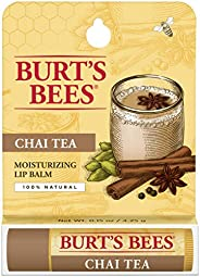 Burt's Bees Lip Balm, Chai Tea, 1 Tube, 4