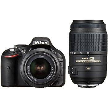 Nikon デジタル一眼レフカメラ D5200 ダブルズームキット AF-S DX NIKKOR 18-55mm f/3.5-5.6G VR/ AF-S DX NIKKOR 55-300mm f/4.5-5.6G ED VR ブラック D5200WZBK