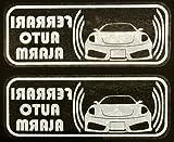 フェラーリ 430 スクーデリア セキュリティ ステッカー fe008w - 580 円