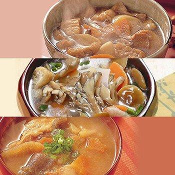 レトルト 惣菜 具沢山 味噌汁 3種類6袋セット (きのこ汁 けんちん汁 豚汁) (大沢加工 非常食 保存食 防災用 にも)