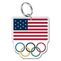 Olympics Usoc Olympic Ringsプレミアムアクリルキーリング