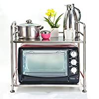 WENZHE キッチン用収納棚ステンレス製調味料ラック電子レンジ用ラック2サイズ10タイプあり (色 : 3#)
