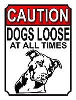 注意犬は常に緩んでいます メタルポスタレトロなポスタ安全標識壁パネル ティンサイン注意看板壁掛けプレート警告サイン絵図ショップ食料品ショッピングモールパーキングバークラブカフェレストラントイレ公共の場ギフト