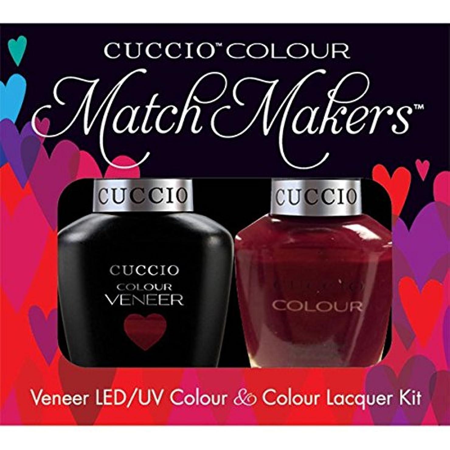 ベット迷彩はっきりしないCuccio MatchMakers Veneer & Lacquer - That's So Kingky - 0.43oz / 13ml Each
