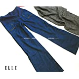 ELLE(エル) 犬印 マタニティロングパンツ M~L 妊婦 (ブルー)