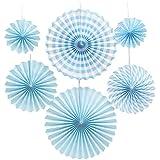 誕生日 飾り付け ペーパーファン 飾り 1歳 バースデー パーティー 男の子 女の子 (ブルー)