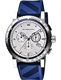 バーバリー Burberry City Sport Swiss Analog Quartz Blue Rubber Strap Chronograph Mens BU9808 男性 メンズ 腕時計 【並行輸入品】