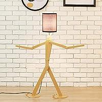 Pointhx木製オリジナル1.1mフロアランプデスク照明器具バラエティキャラクターモデリングスタンディングライトベッドルーム用リビングルーム(カラー:ホワイト)