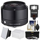 Sigma 19mm f / 2.8EX DNアートレンズwith 3UV / CPL / nd8フィルタ+フラッシュ+ディフューザー+ソフトボックス+キットfor Olympus / Panasonic Micro 4/ 3デジタルカメラ