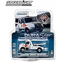 1/64 International Durastar 4400 White Tow Truck with Flames by Greenlight [並行輸入品]