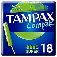 [Tampax] タンポンのCompakスーパーアプリケータータンポン18 - Tampax Compak Super Applicator Tampons 18 [並行輸入品]
