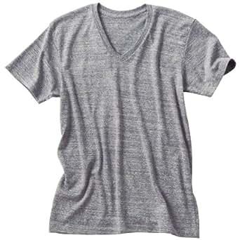 (ダルク)DALUC やわらかい着心地と優しい色合いのトライブレンド 半袖 無地 Vネック Tシャツ 4.3oz メンズサイズ オーセンティックグレー XL