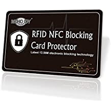 RFID Blocking Card, Credit Card Protector Passport Protectors, RFID Signal Card Blocker RFID Sleeve RFID Credit Card Holder, RFID Blocker Card Fits All Wallet & Card Holder Slots for Women/Men