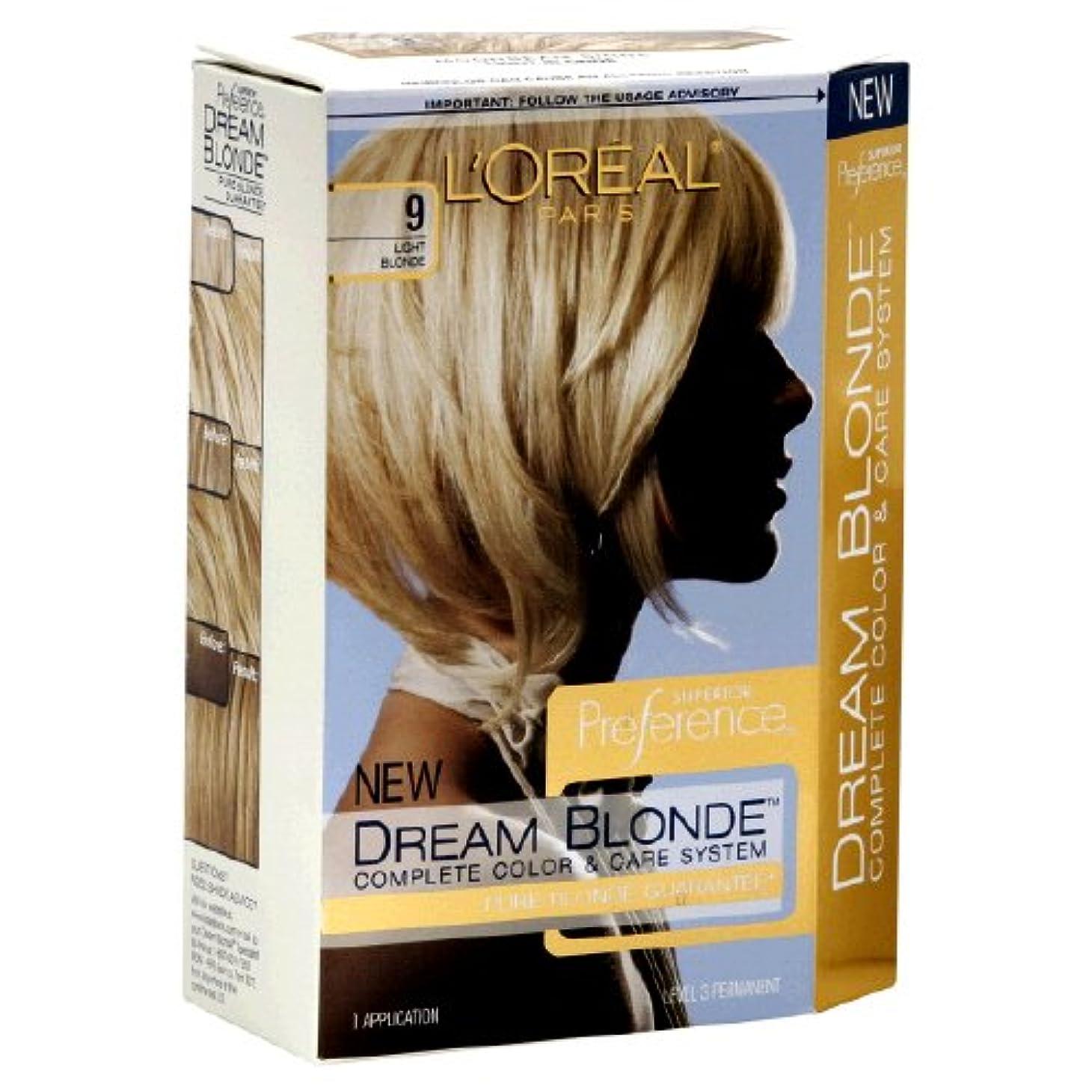 成人期ペルメル通り抜けるL'Oreal Technique Preference - 9 Pastel Blonde - 59.1ml / 2oz