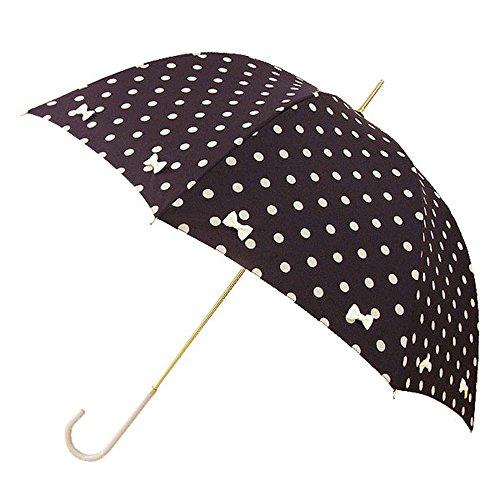 フラミングリボン長傘 (ピンクトリック) (35057【ブラック×ホワイト】)