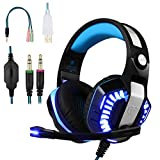 BlueFire Stereo Gaming Headset for PS4Xbox One Headphones with Mic and LED Lights for PlayStation 4