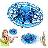 ZeroPlusOne® Hand Operated Drones for Kids or Adults - Air Magic Scoot Hands Free Mini Drone Helicopter, Easy Indoor UFO Flying Ball Drone Toys for Boys or Girls (Blue)