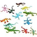 【ノーブランド品】子供の玩具 プラスチック製トカゲのフィギュア 模型/ 12個入り