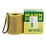 MANN オイルフィルター (プジョー/207) HU 711/51 x 【型式:ABA-A75FW.A75FX 初年:07/03-09/09】 [並行輸入品]