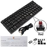 okstylerty ゲーミングキーボード GK66メカニカルキーボード Gateron製光 GK66光軸メカニカルキーボード USB Type-C有線 耐水 静音設計 Windows/Mac OS対応 オフィス・ゲームに適用 RGB 1680万色 ブラック高級感