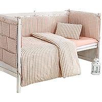 Rart 赤ちゃんの寝具の設定, バンパーのすべてのラウンド ユニセックス 無衝突赤ちゃんベビーベッド バンパー 無衝突ベビーベッド バンパー-A 140x70cm(55x28inch)