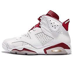 (ジョーダン) Jordan メンズ Air Jordan 6 Retro エアジョーダン 6 レトロ Alternate 1991 Hare ホワイト レッド 2017 DS, バスケットボール シューズ 384664-113 [並行輸入品]