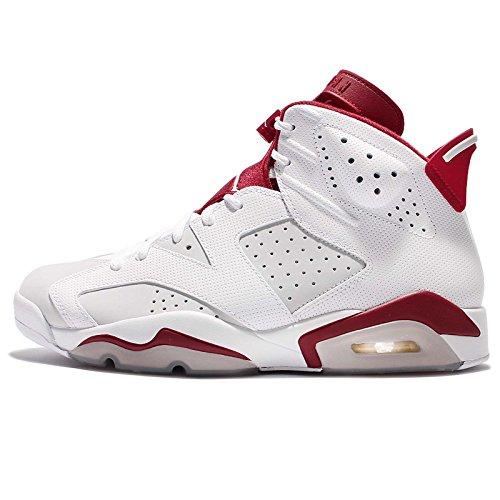 (ジョーダン) エアジョーダン 6 レトロ 1991 ホワイト レッド 2017 DS VI メンズ バスケットボール シューズ Air Jordan 6 Retro 384664-113 [並行輸入品], 28 CM (US Size 10)
