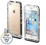 サンワダイレクト iPhone 6s Plus/6 Plus 防水ハードケース 防塵 耐衝撃 IP68取得 カメラ対応 200-SPC013WP