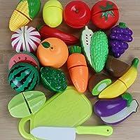 キッチンプレイセット YIFAN おままごと 果物カット フルーツカット 野菜カット 早期開発 幼児向け 18個セット