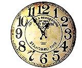 チンプンチャンプン ウォール クロック 壁 かけ 木 製 時計 インテリア 雑貨 オールド ホワイト