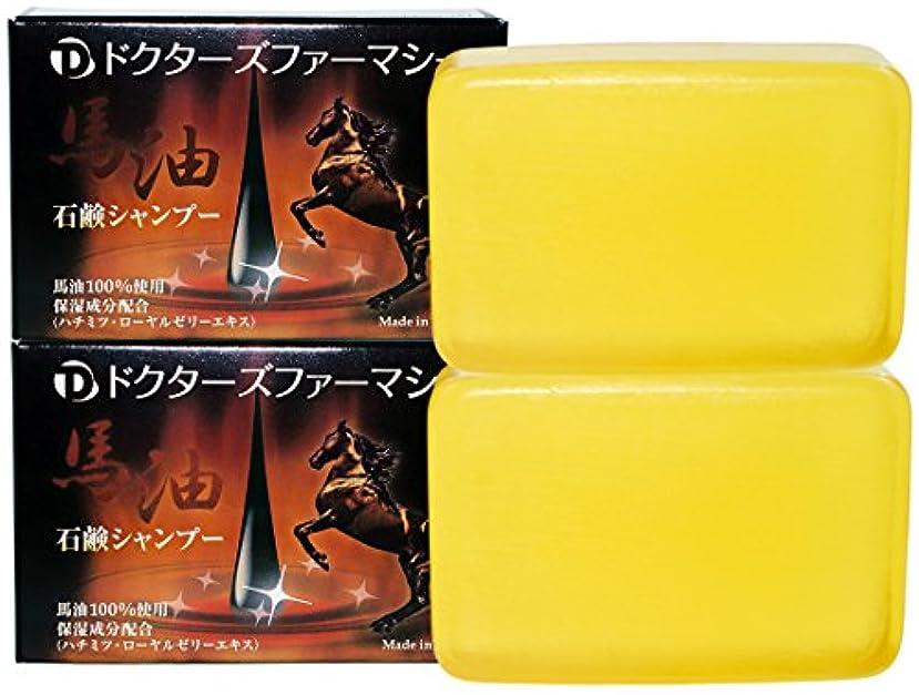 エスカレートブランデー幸運な育毛サポートに石鹸シャンプー  … (馬油石鹸120g, 2個)