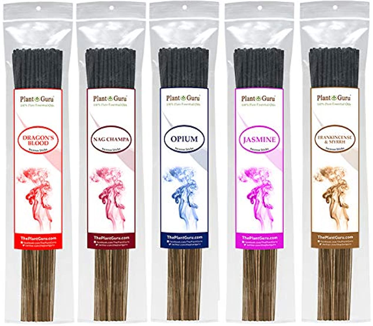 事実主人ゆるいIncenseサンプラーセットエキゾチックIncense Sticks 925グラムスティック数合計425 to 500 Sticksプレミアム品質Smooth Clean Burn各スティックは10.5インチ長Burn...