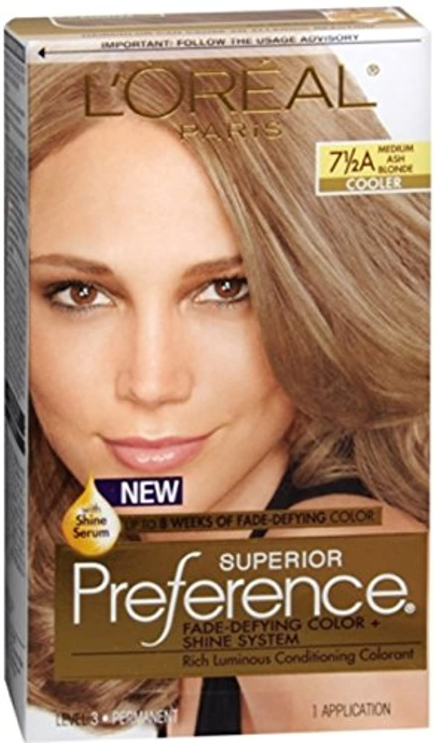 可愛いオーブン広範囲に海外直送肘 LOreal Superior Preference Hair Color Medium Ash Blonde, Medium Ash Blonde 1 each