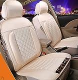 (ファーストクラス)FirstClass ノンスリップシート 四季用 ファブリック エアバッグホールあり フロント リア クッション 車シートカバー ベージュ 汎用 6pcs