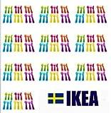 IKEA NEW KALAS キッズ食器 カラフルカトラリー18個×10セット プラスチック製 IKEA 101.929.61