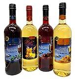 ドクターディームス ホットワイン ハニーレモンジンジャー&アップルシナモン&ブルーベリー&チェリー グリューワイン 750ml×4本セット